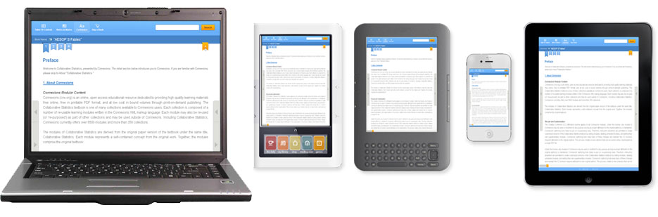 Akadémos eReader functionality on a variety of devices.